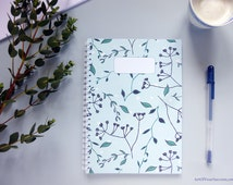 Spiral Bound Notebook, Mother's Day Gift, A5 Spiral Bound Notebook, Plant Design Journal Planner