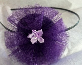 Tulle and Flower Headband