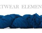 Chiffon Sari Silk, Ocean Blue Chiffon, Fair Trade, 5 Yards, Silk Ribbon, Silk, Textile, Art Yarn, Ribbon, Silk, Artwear Elements, #113