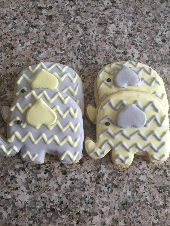 Baby Shower Cookies Favors ~ Baby shower cookies elephant cookie favors dozen
