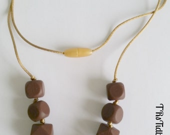 Brown and Navajo Silicone Teething Necklace