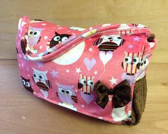 Diaper Bag- Pink Owls