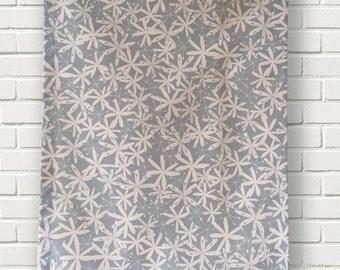 Blue floral tea-towel