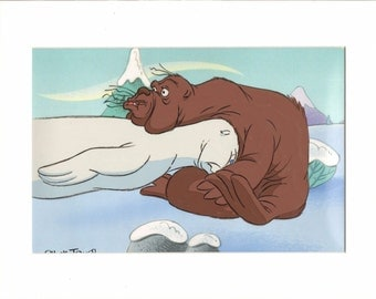 Chuck Jones The White Seal hand-painted production animation cell COA 2*