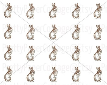 PRINTABLE, Baby Bunny,  Baby Shower, Birthday Party, Easter, Labels, Tags, Stickers, Cupcake Toppers, PDF, Digital Download, 2 Inches