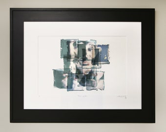 """Polaroid Emulsion Collage / 18"""" x 24"""" / Matted and Framed"""