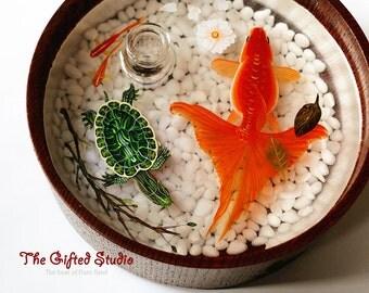 Volatile oil etsy for Resin koi fish