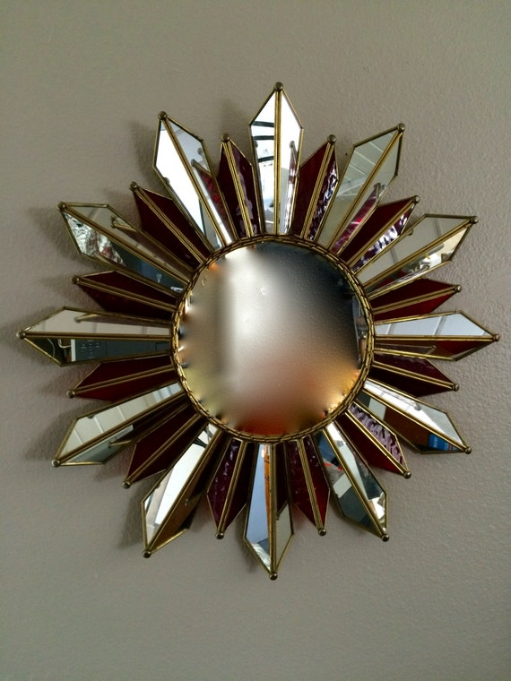 Extraordinary Sunburst Mirror 1950s Mid Century Modern Soleil