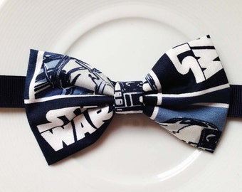 B051  Navy Star wars Inspired bow ties /baby/boy/adult/adjustable strap/Clipon/bow tie