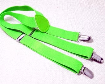 30% Sale Neon Green Suspender for Baby/ toddler
