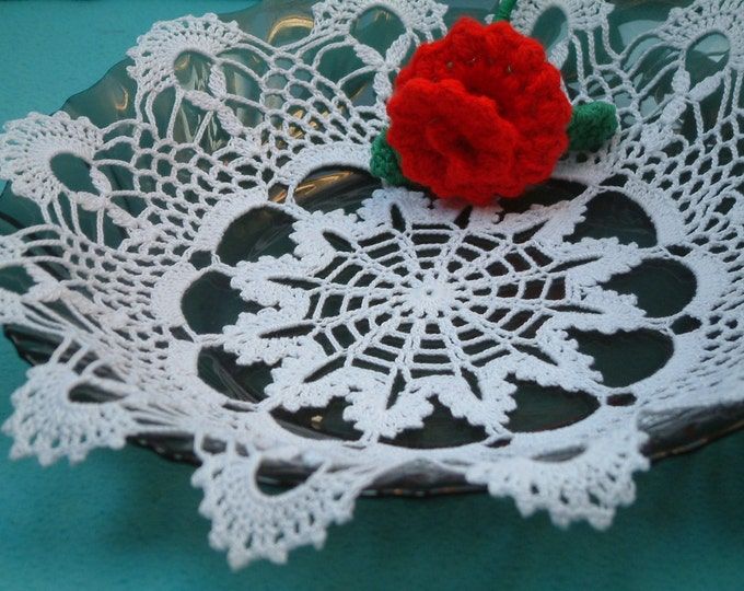 lace doily, crochet doilies, lace dollie, table decoration, crocheted place mat, doily tablecloth, table runner, napkin, white color