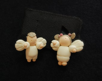 Little Angel Brooches set of 2 brooches