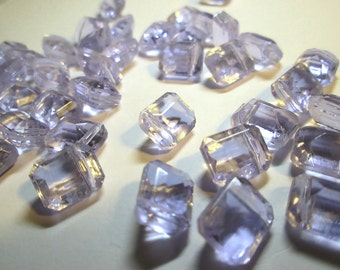 Beautiful Vintage  Light Aqua Glass Beads with horizontal top hole