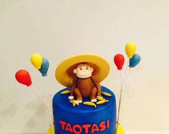Curious George cake topper set