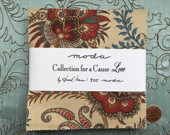 """Collections for a Cause - Love by Howard Marcus for Moda Fabrics - Charm Pack - 42 5"""" squares"""