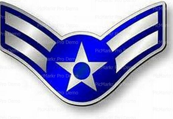 Air Force Airman 1st Class Insignia Birthday - Edible Cake and Cupcake Topper For Birthday's and Parties! - D20441