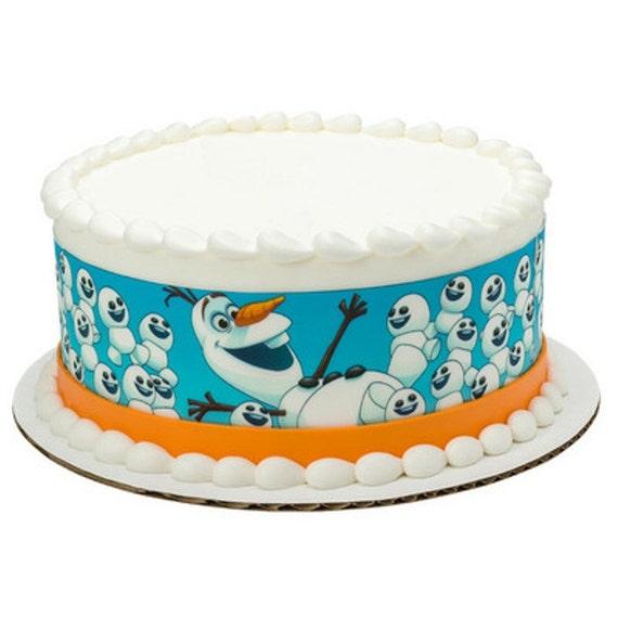 Licensed Edible Cake Images : Disney Frozen Olaf Licensed Designer Strips by ArtofEricGunty