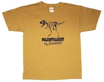 Paleontologist in Training Dinosaur T-Shirt kids Youth Large