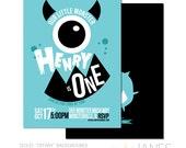"Monster Birthday Invitation | Halloween Invitation | Monster Party | Girl Monster Party Invitation - 5X7 with *bonus reverse side"""
