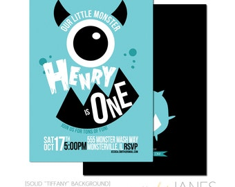 Monster Birthday Invitation | Halloween Invitation | Printable Monster Invite | Girl Monster Party Invite - 5X7 with *bonus reverse side""