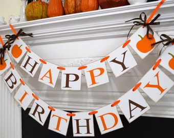 Fall Birthday Banner, Little Pumpkin banner, Halloween Birthday banner, Autumn pumpkin banner, Rustic fall birthday decor, Rustic banner,