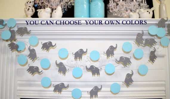 elephant garland elephant baby shower decorations blue u0026 gray elephant nursery decoration lucky