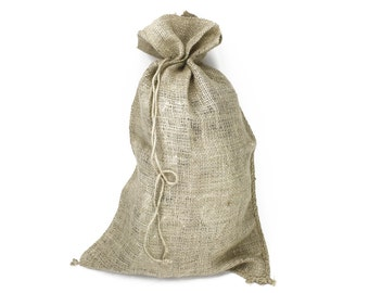 """16x24"""" Burlap Sack; Santa Bag (BS24-xx) 3 colors - Use as an Easy Gift Wrap for Oversize Gifts, in your Garden, or as a Primitive Decoration"""