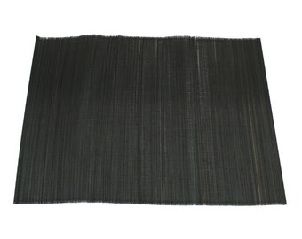 "Black Bamboo Place Mat 13"" x 19"" set of 4 Home & Kitchen, Home Decor, elegant looking, place setting, modern look,  (BAP01-20)"