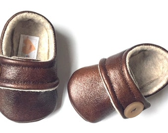 CASH Baby Boy Shoes in brown Leather 0-18months