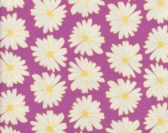 Daisies Lilac Scent - Art Gallery Fabrics Knit