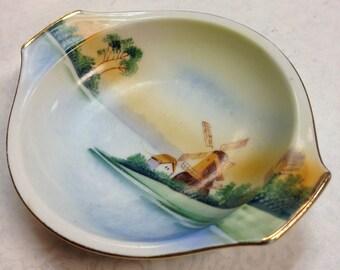 S&K Hand Painted Porcelain Bowl c.1950s
