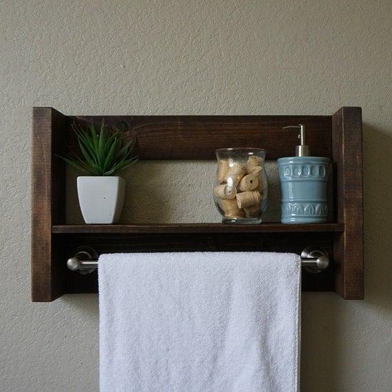 Modern Rustic Bathroom Shelf With 18 Brushed Nickel By Keodecor