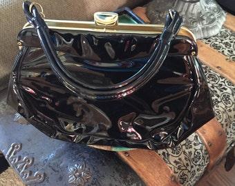 Vintage Black Patent leather handbag