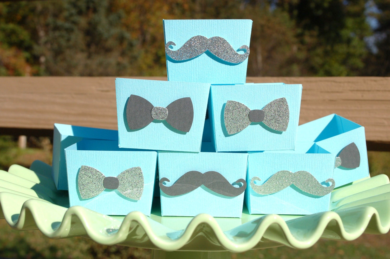 mustache bow tie baby boy shower little man 1st by fishcouple