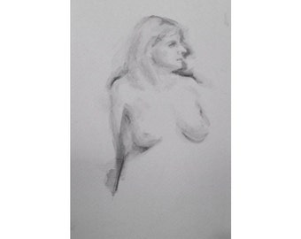 Figure- 5.5 x 8.5, graphite/wash on paper