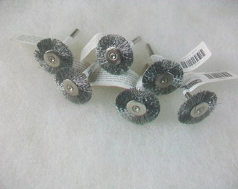 "7/8"" Stainless Steel Wire Wheel Brush 6 pcs. Use With Dremel and Rotary Tools"