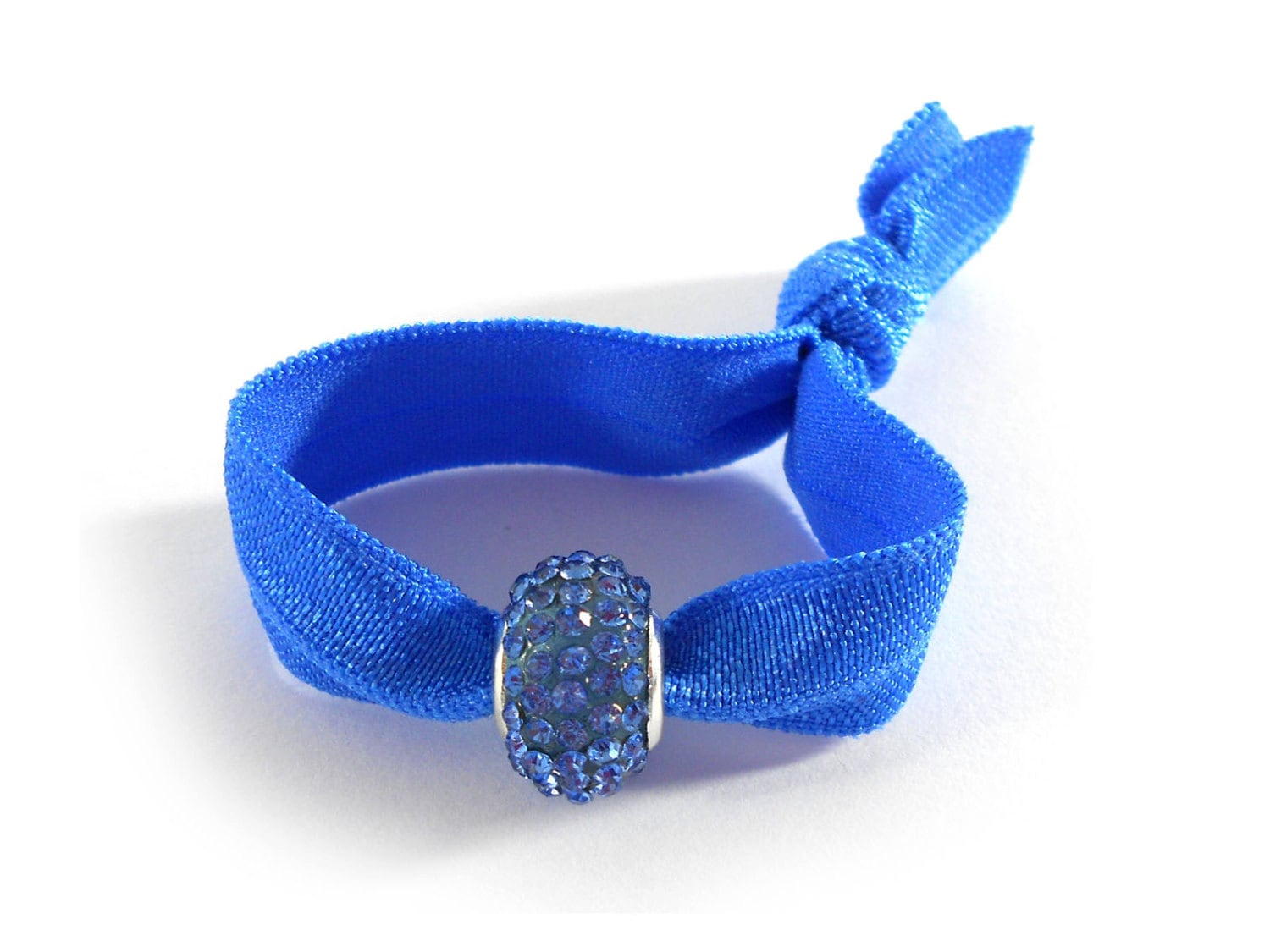 ponytail holder bracelet hair tie bracelet ponytail holder in royal blue by 7853