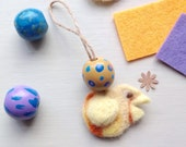 Easter Mini Ornament ~ Happy Little Easter Chick Twiggy Tree Decor Cute Chick Easter Gift.