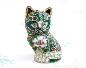 Cloisonne Kitten - Miniature Cat Figure
