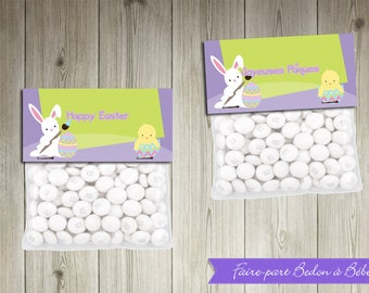 Easter Treat Toppers - Printable party decorations - Easter