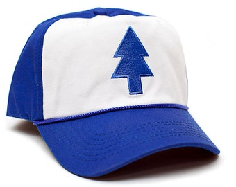 Dipper Blue Pine Hat Embroidered Curved Cloth & Braid Unisex- Adult One Size Royal/White Baseball Cap …