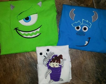 Monsters Inc University Mike Sulley Boo Disney Vacation Custom Tees