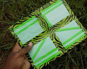 Duct Tape Women's Wallet with a Velcro Bi-Fold, a Coin Pouch, 8 Card Pockets, and an ID
