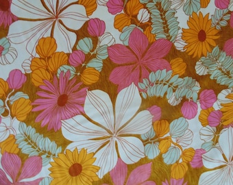 20 Yards Cotton Fabric Vintage Retro Flower Power Psychedelic Mid Century Modern Sewing 5th Avenue