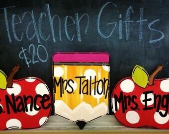 Mini Teacher Door Hangers, Teacher Appreciation, End of the Year Teacher Gifts