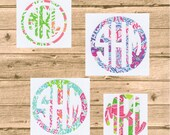 "FREE SHIPPING on 5"" Lilly Pulitzer monogram decal"