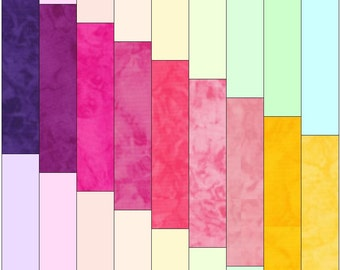 Rainbow Steps Paper Template Quilting Block Pattern PDF
