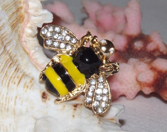 Bumble Bee Ring, Queen Bee Yellow Ring