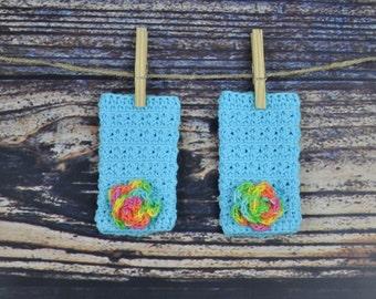 Blue Flower Legwarmers - Baby
