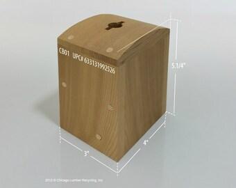 Charity Box, Wood Bank, Chiang Container, Tzedakah, קופת צדקה (CB01)